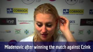 Kristina Mladeovic vai à semifinal do Brasil Tennis Cup