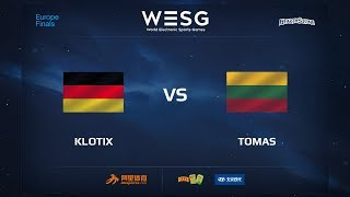 Klotix vs Tomas, game 1