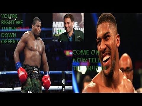 Breaking News: Luis Ortiz Admitts To Turning Down Anthony Joshua, Eddie Hearn Was Correct !!