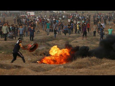 Israelische Soldaten verletzen 130 Palästinenser unwe ...
