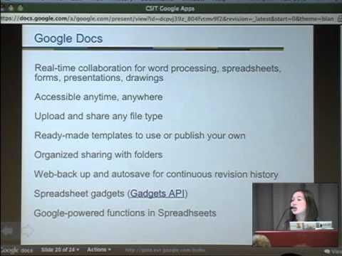 CS & IT Symposium 2010: Aufbau einer 21st Jahrzenten Schule  mit Google Apps