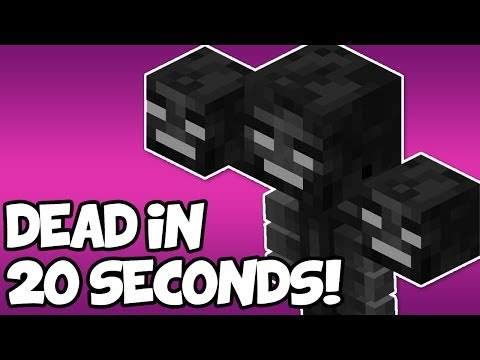 Minecraft Tutorial | How to Kill the Wither in 20 Seconds [ Minecraft 1.8 ]