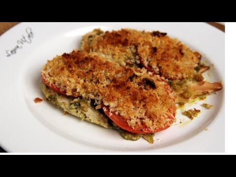 Pesto Baked Chicken Recipe – Laura Vitale – Laura in the Kitchen Episode 296