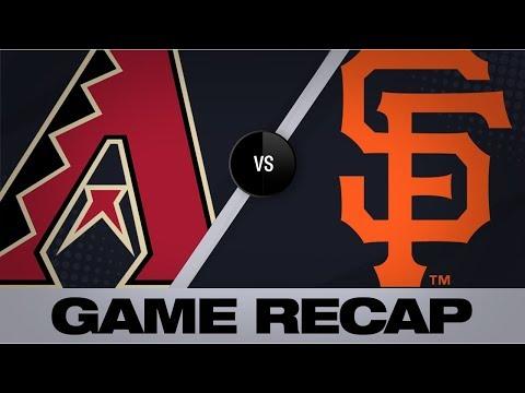 Video: Greinke tosses 7 scoreless in 4-3 win | D-backs-Giants Game Highlights 6/29/19