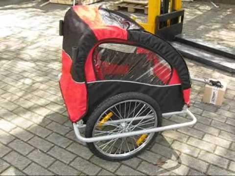 Remorque vélo enfant 2 en 1 convertible en poussette référence: 5664-0001a  www.bc-elec.com