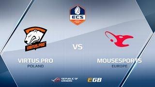 Virtus.pro vs mousesports, map 2 cobblestone, ECS Season 2 Europe