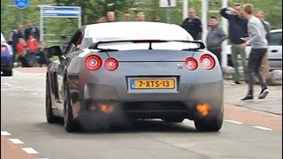 This modified R35 GT-R is making some serious noise! It has a full de-cat titanium exhaust system on it. With the help of a bit of tuning it now has a power output of approximately 660 bhp.Accelerations, flames, backfires, pops and bangs, loud revs. It's definitely one of the loudest R35 GT-Rs I've ever seen.--------------------------------------------------------------------------------------------------------------------------------------------------------------------------------------------------------------------------------Camera: Canon Rebel T3i (600d) + Tamron 18-200Mic: Rode Videomic Rycote--------------------------------------------------------------------------------------------------------------------------------------------------------------------------------------------------------------------------------