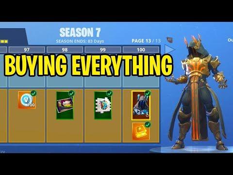 Fortnite Season 7 Free Battle Pass Bundle Update Tier 100 Skin Unlocked