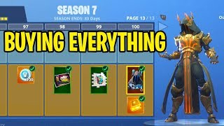 "Fortnite Season 7 FREE ""Battle Pass Bundle"" UPDATE! Tier 100 SKIN UNLOCKED!"