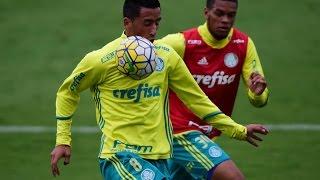 Jogo-treino entre Palmeiras x Atibaia. O placar final: 2 x 0, gols de Raphael Veiga e Tchê Tchê. --------------- Assine o Premiere e...