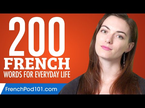 200 French Words for Everyday Life - Basic Vocabulary #10