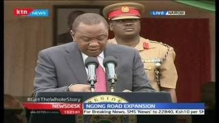 President Uhuru Officiate The Expansion Of Ngong Road Project
