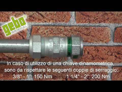 IT_04. Gebo Original. Raccordo a compressione in ghisa  per tubi in acciaio e PE (transizione)