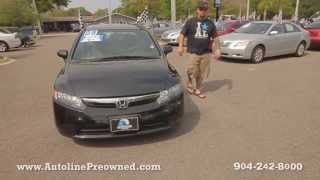 Autoline Preowned 2009 Honda Civic Sdn EX For Sale Used Walk Around Review Test Drive Jacksonville