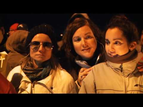 Una multitud participó del Vía Crucis Submarino de Puerto Madryn