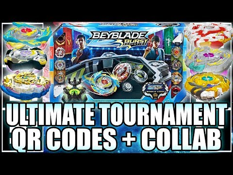 ALL 7 ULTIMATE TOURNAMENT SET QR CODES + GOLD L3 + COLLAB C/ ZANKYE! BEYBLADE BURST APP QR CODES