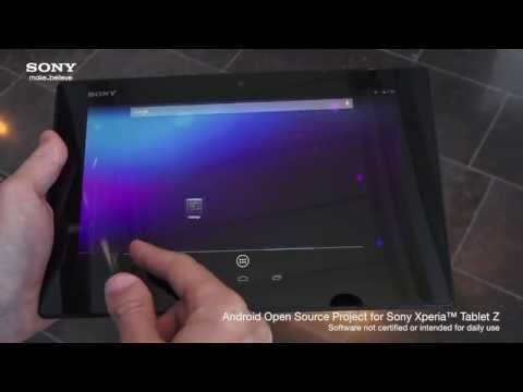 AOSP for Xperia Tablet Z from Sony