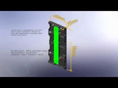 500X1000  indoor rental LED screen (видео)