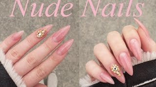 HOW TO: Gelnägel im Nudedesign | mit Strasssteinen | TheRealNana - YouTube