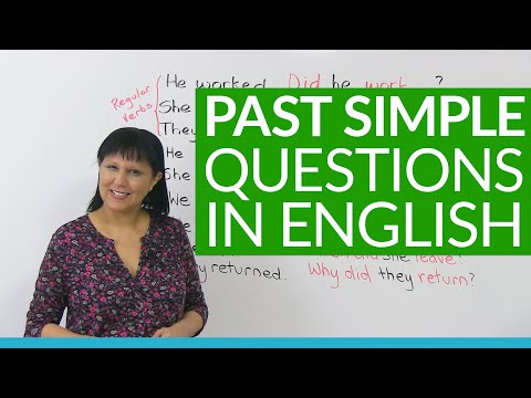 , title : 'How to ask questions in the PAST SIMPLE tense'
