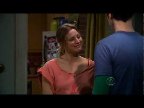 Penny answers to Sheldon's Knocks with a joke