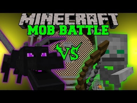 ENDER DRAGON VS SKELETON FRIEND - Minecraft Mob Battles - Anti Plant Virus Mods