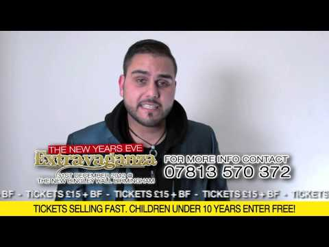 T-MINDER VIDEO MESSAGE -THE NEW YEARS EVE EXTRAVAGANZA - NEW BINGLEY HALL BIRMINGHAM