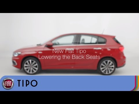 Fiat Tipo. How To Fold Down The Seat