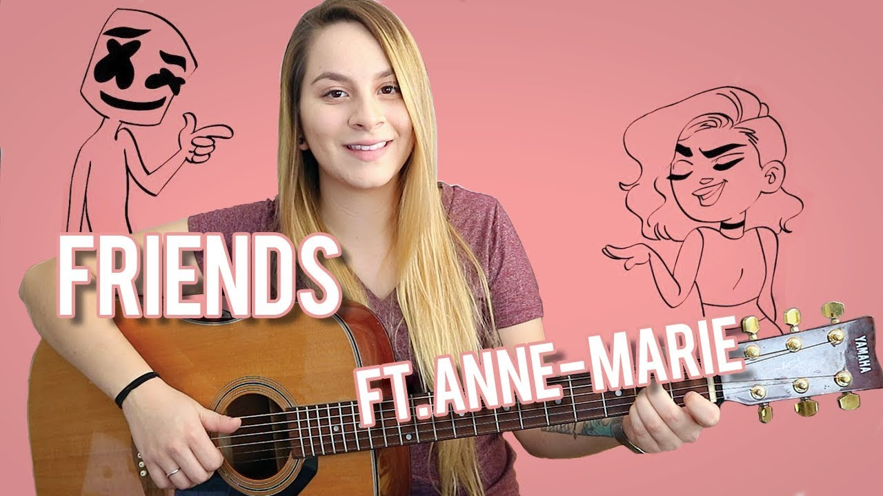 Friends | Marshmello ft. Anne-Marie | Easy Guitar Tutorial For Beginners | With Chords!