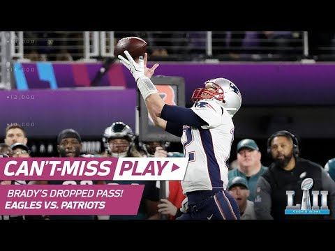 Video: Tom Brady Drops Wide Open Pass on Failed Trick Play Attempt | Can't-Miss Play | Super Bowl LII
