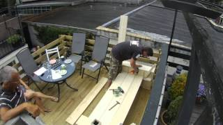 Steigerhout Loungebank time lapse