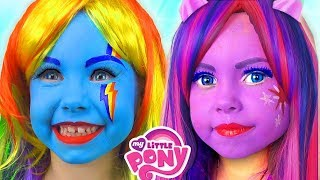 Kids Makeup My Little Pony with Colors Paints For Kids Alisa Pretend Play with Doll Collection