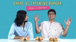 Cheap Vs Expensive Burger: Which Is Better? | Ft. Arushi & Joshua | Ok Tested