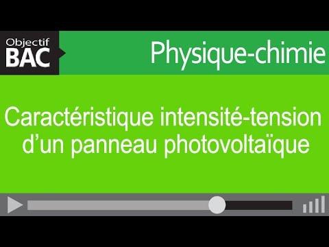 Physique-Chimie STI2D - Caractéristique intensité-tension d'un panneau photovoltaïque