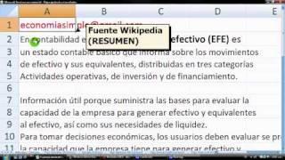 Estado de Flujo de Efectivo (caja) en Excel: Métodos Directo e Indirecto