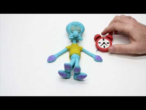 Stop motion Squidward Tentacles Play Doh compilation funny video for kids