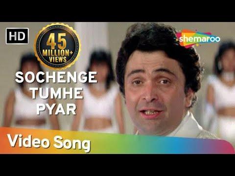 Video Sochenge Tumhe Pyaar Kare Ke Nahi (HD) - Deewana Song - Rishi Kapoor - Divya Bharti - Filmigaane download in MP3, 3GP, MP4, WEBM, AVI, FLV January 2017