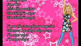 Download Lagu Hannah Montana -Supergirl With Lyrics Mp3