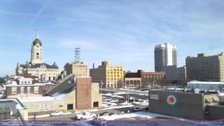 1/24/2016 Downtown Evansville Old Court House Webcam Time Lapse