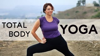 Video 1hr Total Body Yoga Workout for Flexibility and Strength With Fightmaster Yoga MP3, 3GP, MP4, WEBM, AVI, FLV Maret 2018