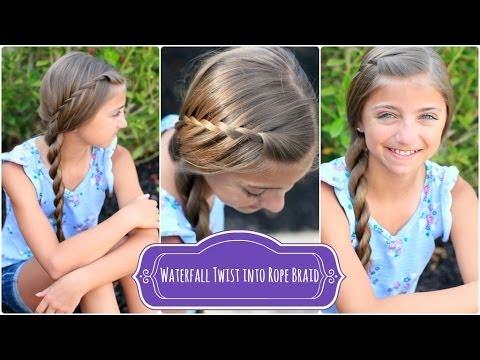 Waterfall Twist Rope Braid | Summer Hairstyles