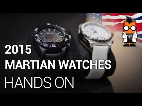 Eyes-on with the 2015 Martian smart watches