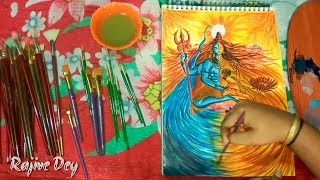 It is a modern technique painting of Lord Shiva and Parvati .The colour used in this painting is Artist water colour . Please give thump's up if you like the...