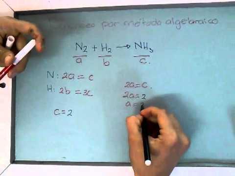 Balanceo: Metodo algebraico