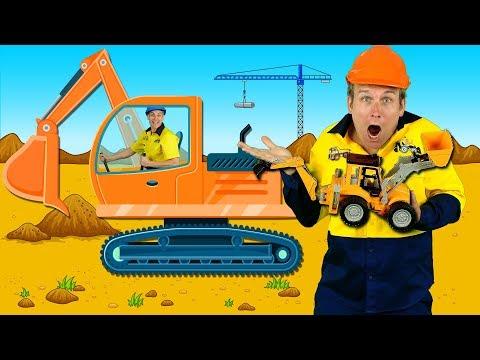 """Construction Machines"" Kids Song - Diggers, Trucks, Backhoe, Construction Toys - Thời lượng: 2 phút, 53 giây."