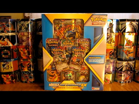 mega - A Mega Metagross EX Premium Collection Box is opened in this video. This box includes a Shiny Mega Metagross EX and Shiny Metagross EX promo cards, 8 X and Y series booster packs, 2 each of...