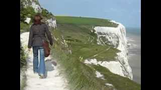 Dover United Kingdom  City pictures : Windy walk along the White Cliffs of Dover - England, UK