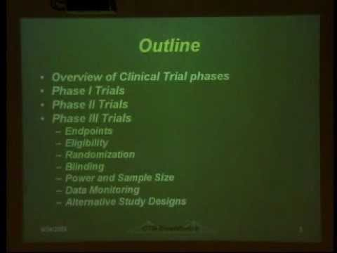 clinical - Presented by Dr. Brent Logan, PhD, Professor in the Division of Biostatistics, Medical College of Wisconsin. This lecture will provide an overview of study d...
