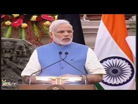 PM Narendra Modi & Chancellor of Germany, Angela Merkel at the Joint Press Statement in New Delhi