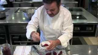 Michel Troisgros makes one of his dishes